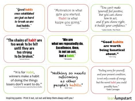 9 Habit Quotes