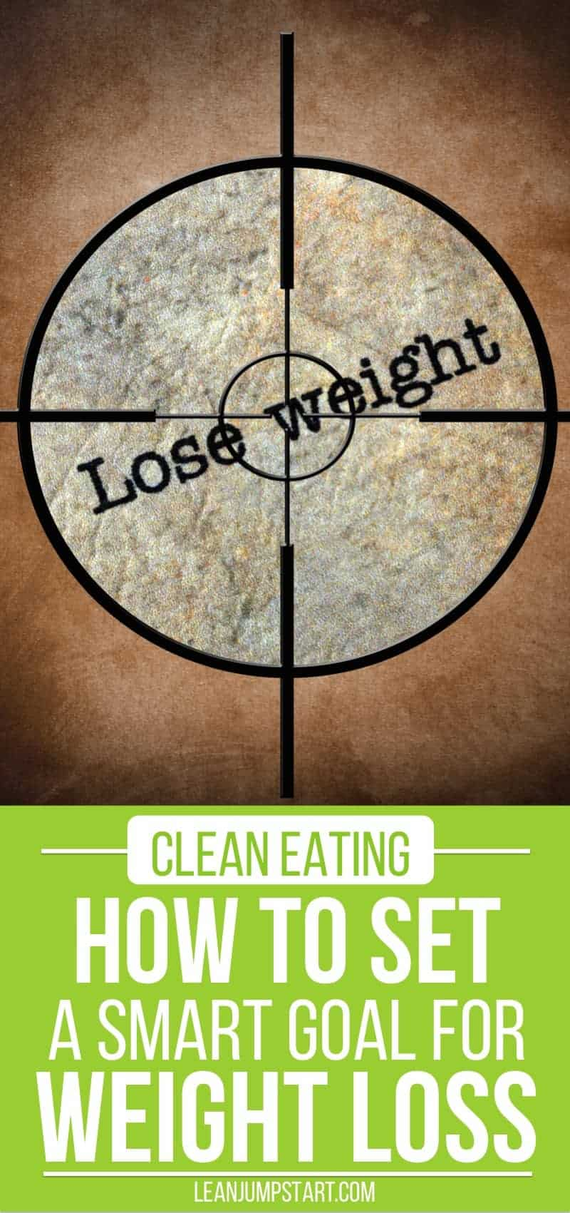 smart goal example for weight loss