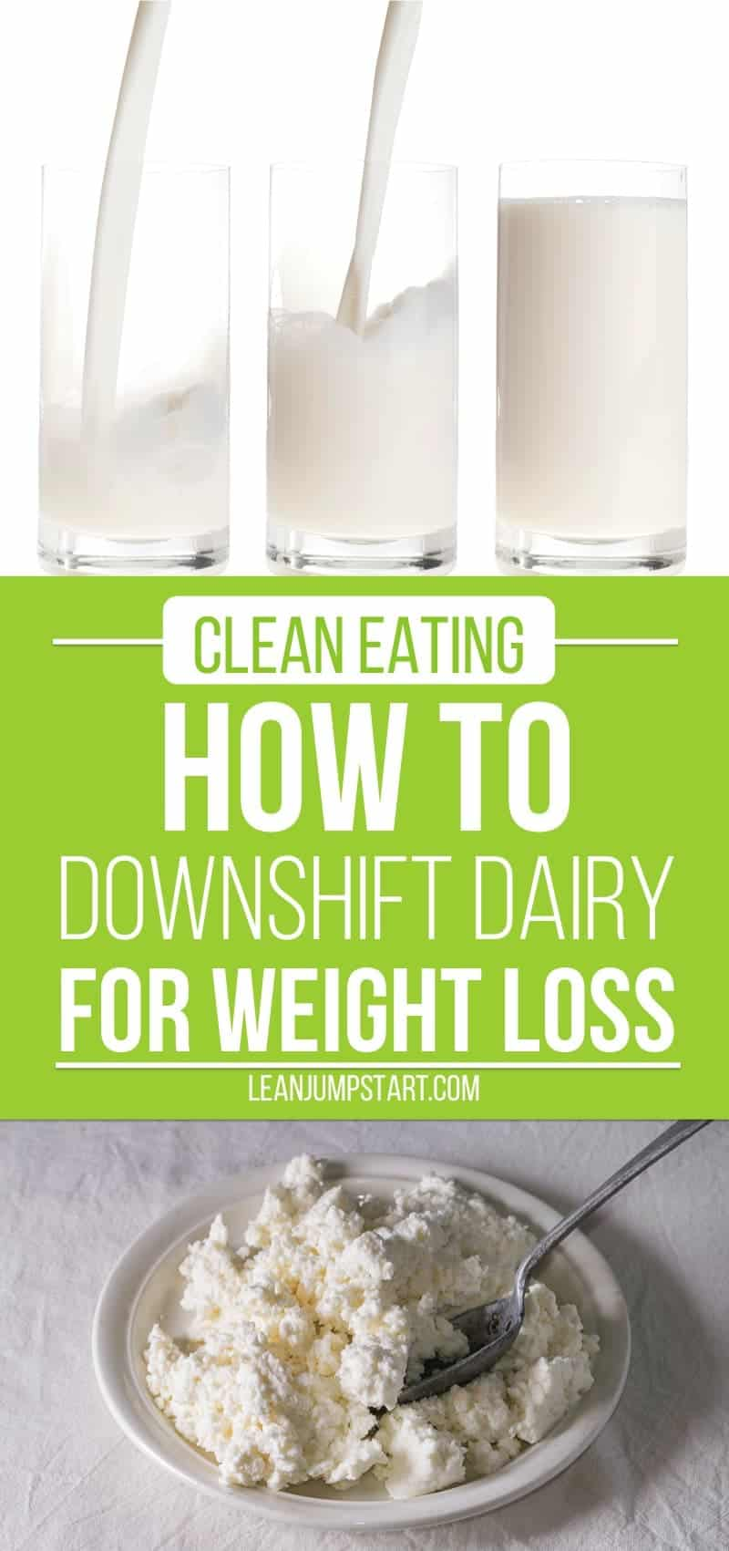 downshift dairy for weight loss