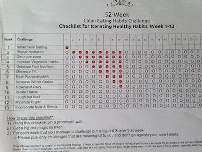 Gabi's checklist for healthy habit changes