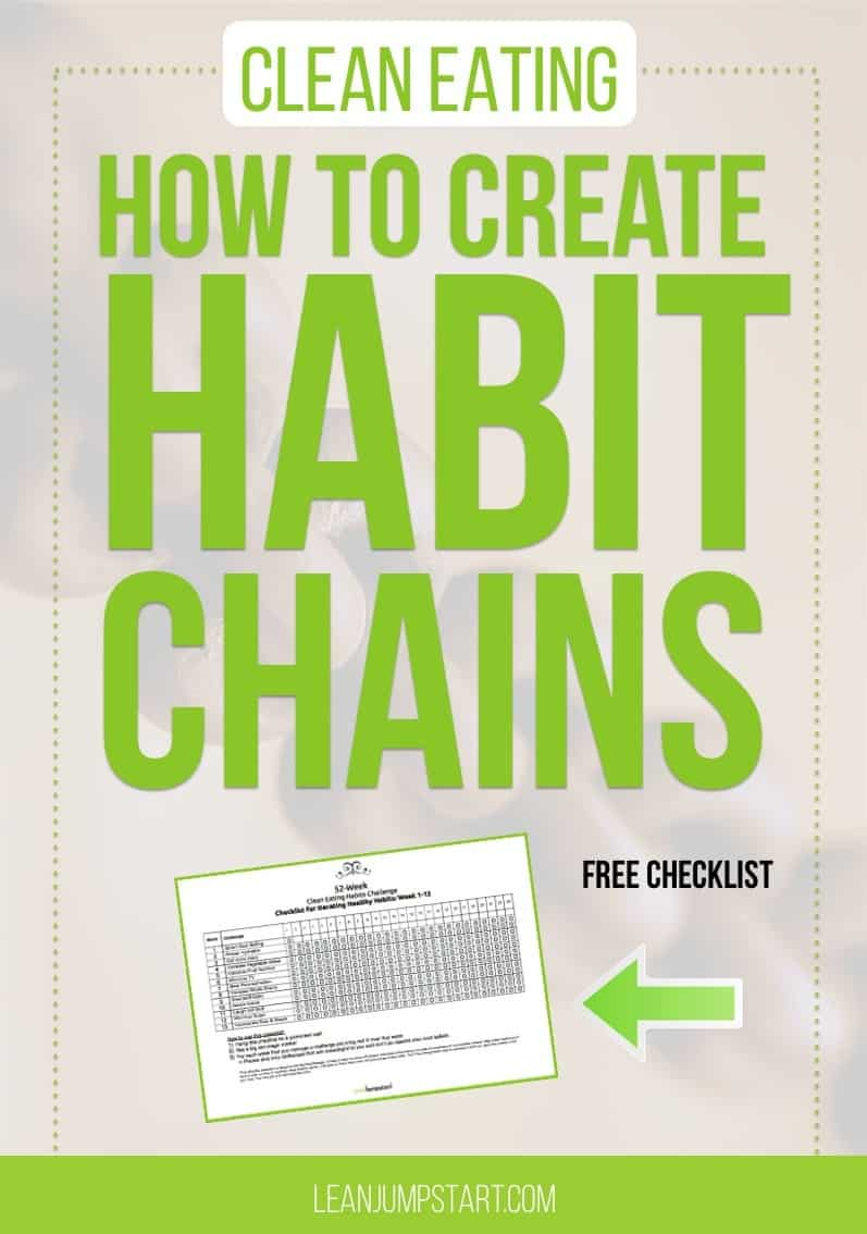 healthy habit changes: How to create behavior chains and simplify clean eating