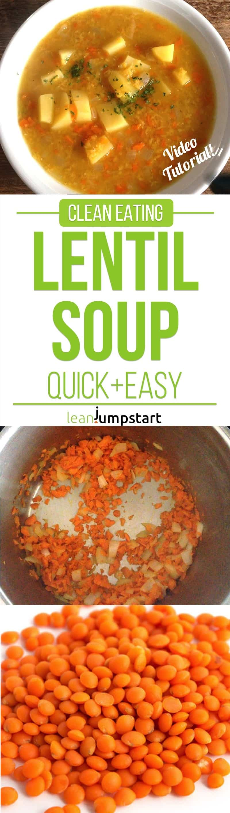 clean eating red lentil soup
