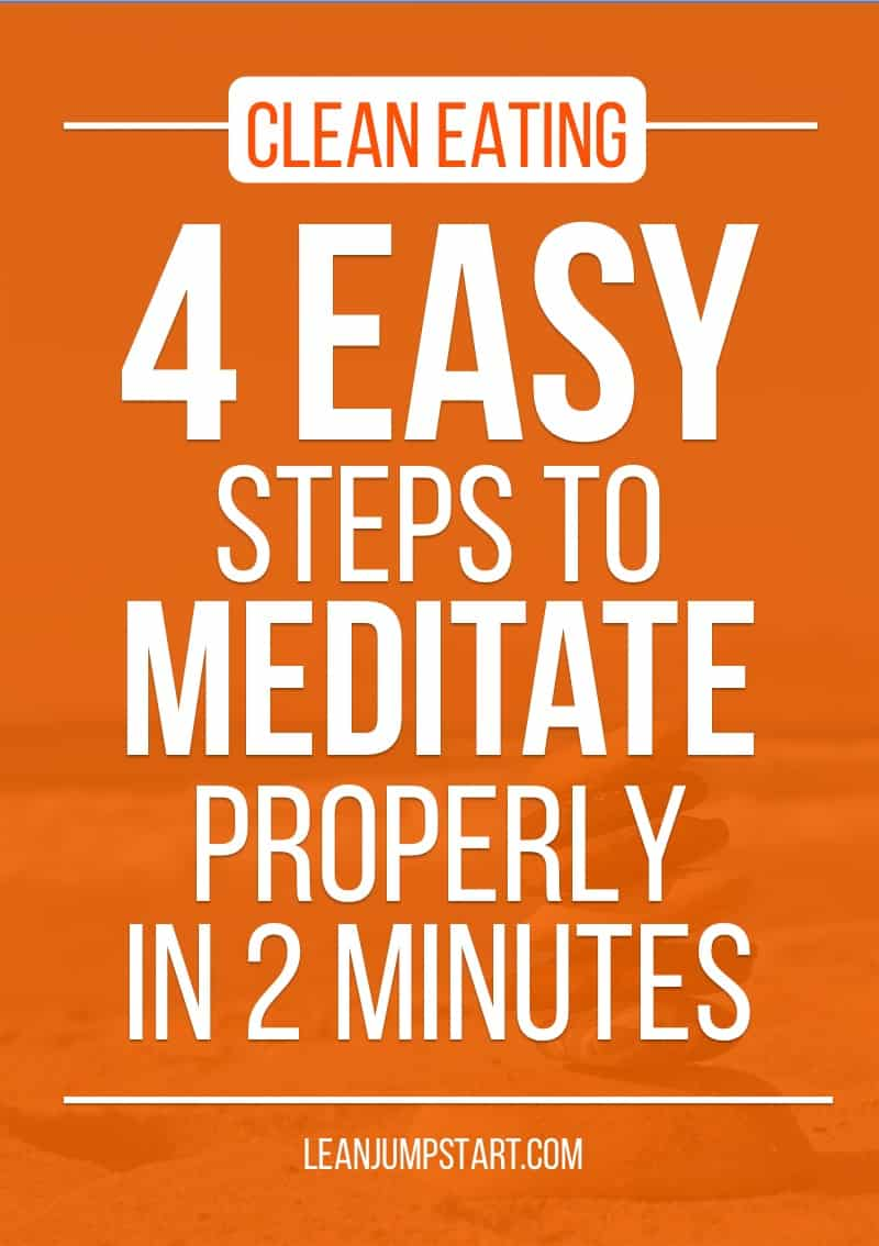 meditation for health: 4 easy steps to mediate properly in 2 minutes
