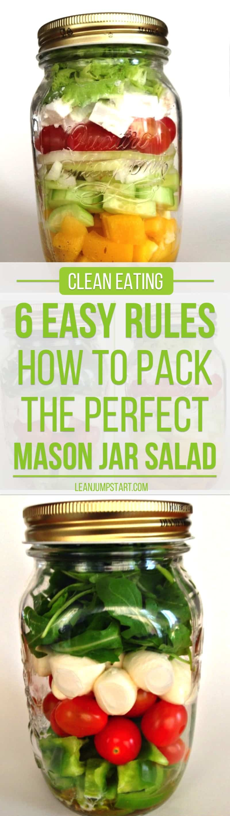 how to pack a mason jar salad - 6 easy rules