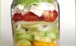 clean eating mason jar salad in a jar