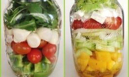 Clean Eating Salad in Mason Jar – Greek Style