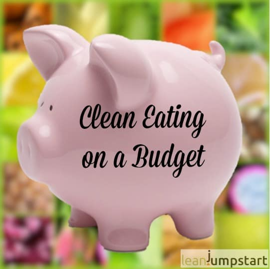 piggy bank clean eating on a budget