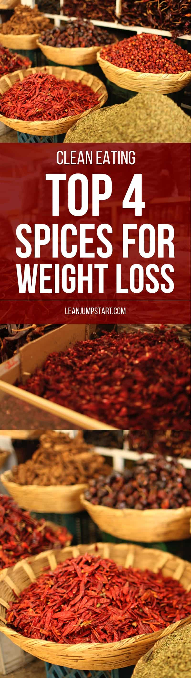 Top 4 spices for weight loss that should not miss in your clean eating kitchen. Click through!
