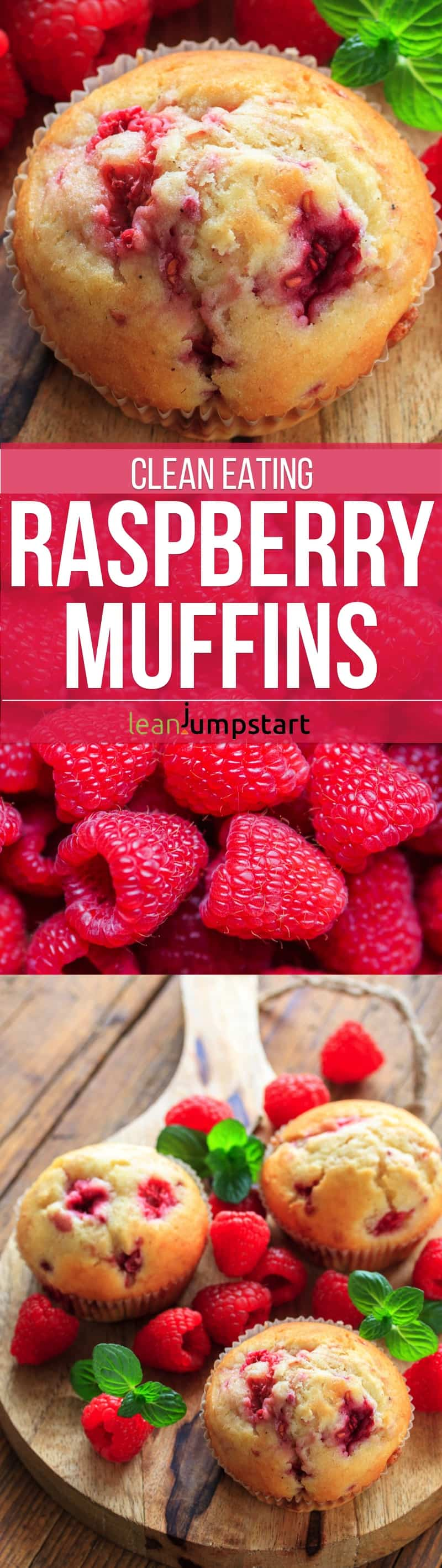 These clean eating raspberry muffins are a perfect option for a healthy bit of deliciousness. They are sugar-free, low-fat and easy to bake. They make also a great party food! Repin this and then click through to read about this clean eating muffin treat!