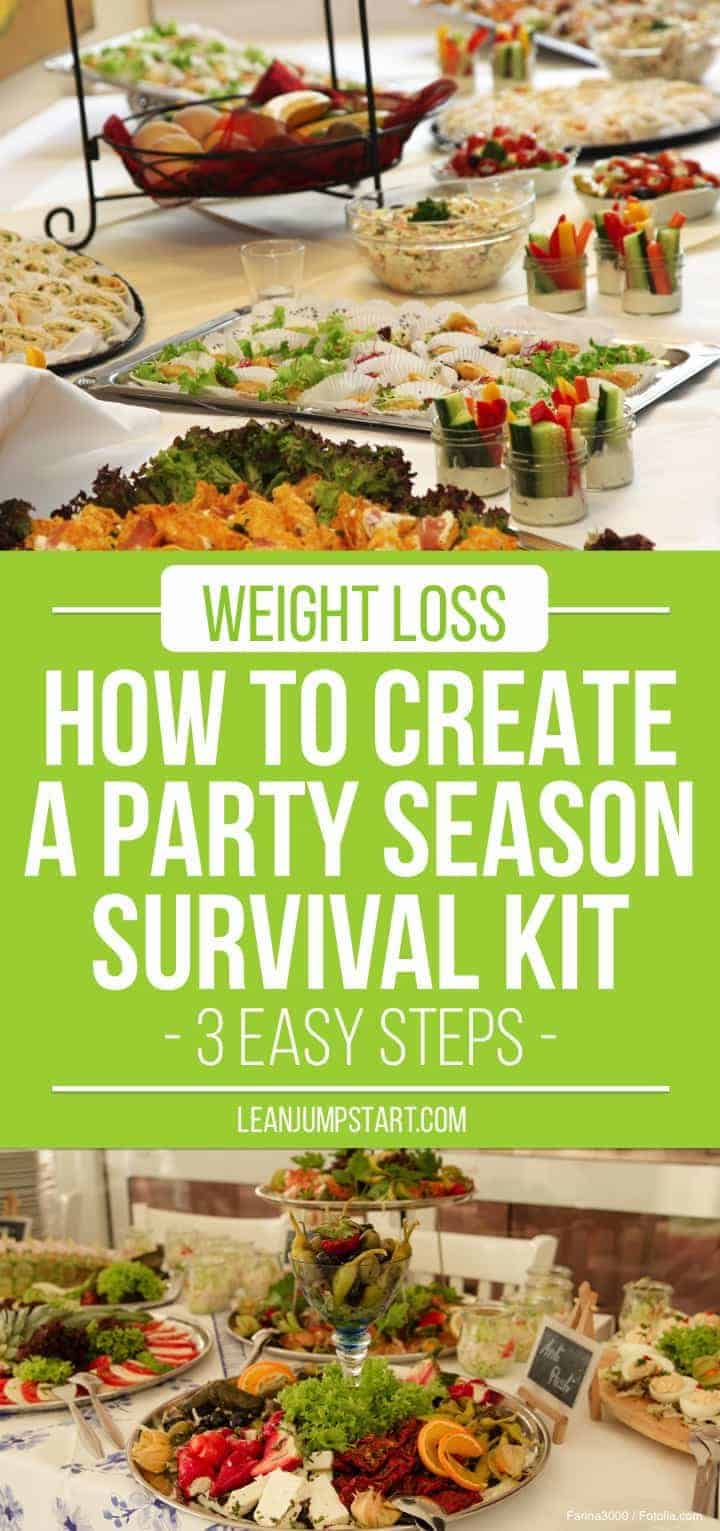 healthy party food: 3 easy steps to create a party season survival kit