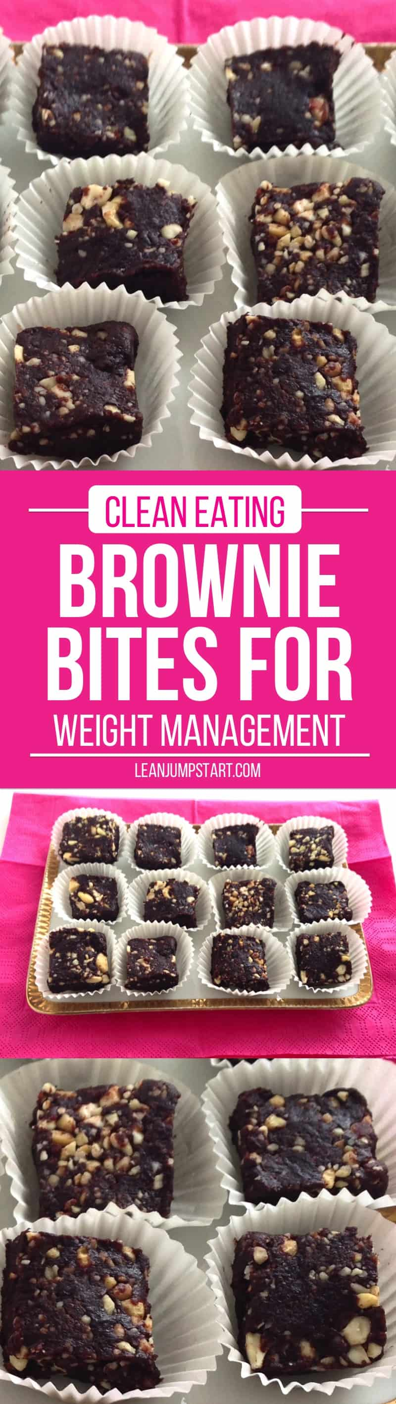 clean eating brownie bites for weight management