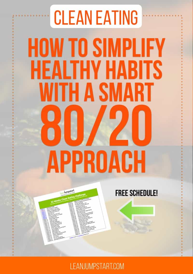 Clean Eating: How to simplify healthy habits with a 80/20 approach (free schedule!)