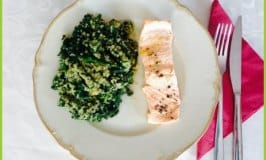 Clean Eating Steamed Salmon with Quinoa Spinach: Quick and Easy