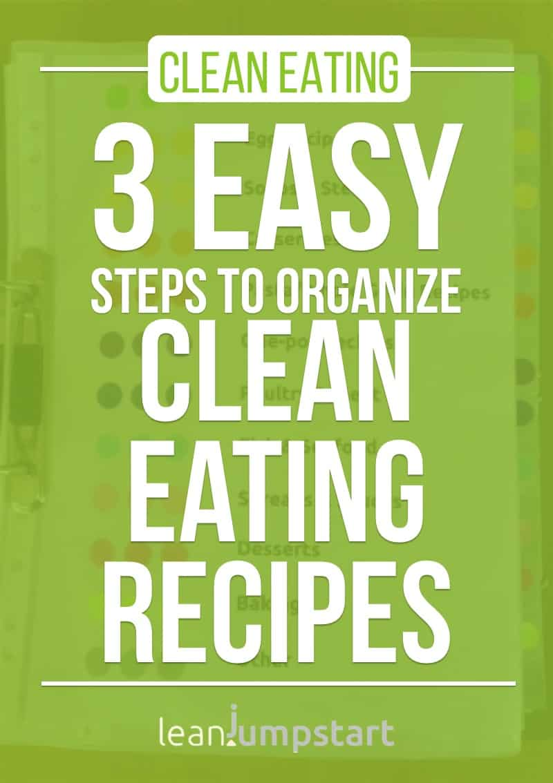 recipe organization: 3 easy steps to organize clean eating recipes