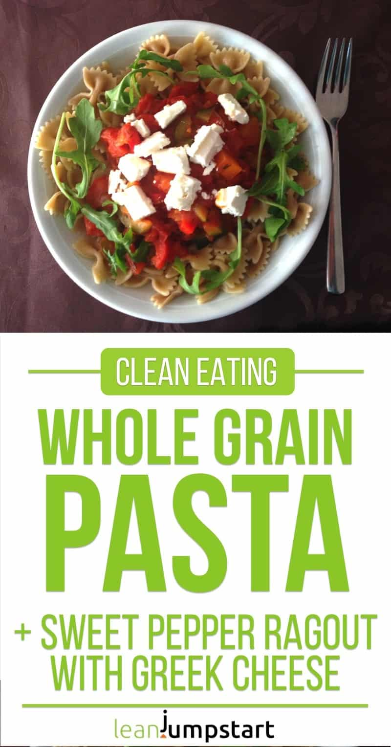 clean eating whole grain pasta