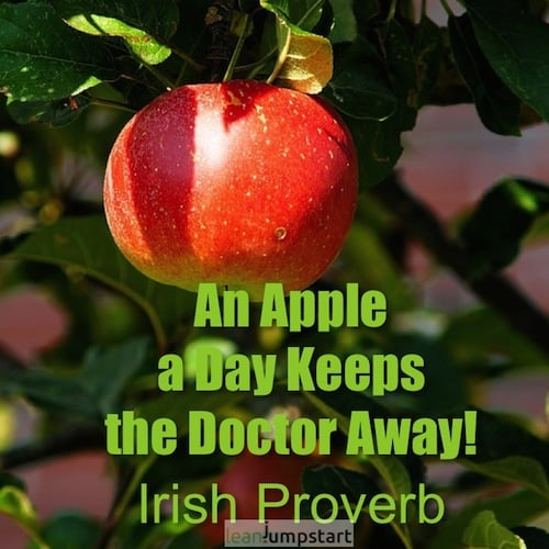 picture quote apple a day