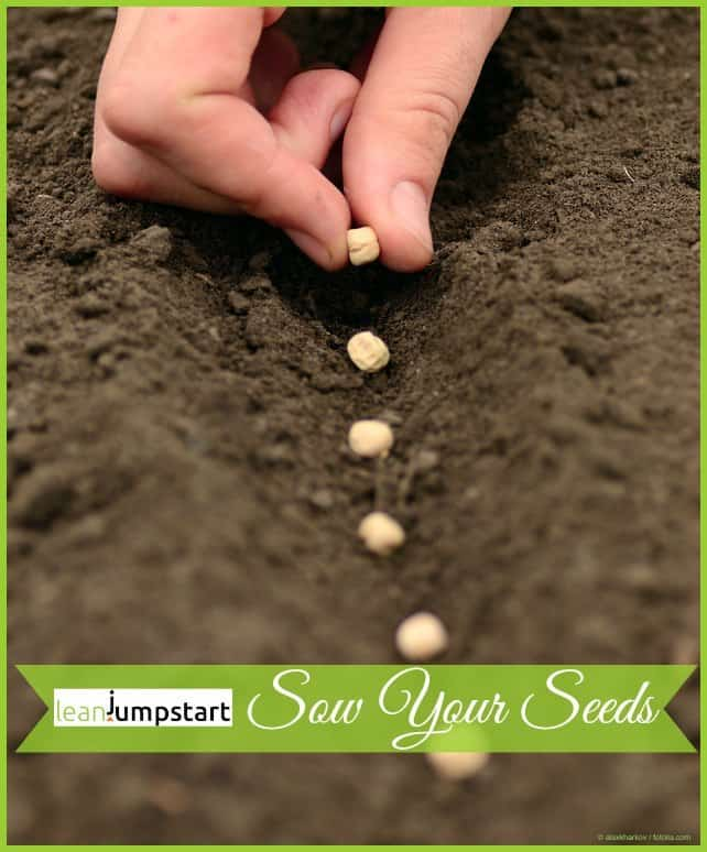 clean food habits: sow your seeds