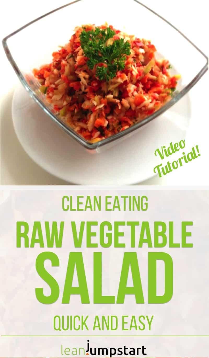 clean vegetable salad