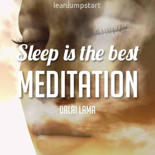 sleep quote dalai lama