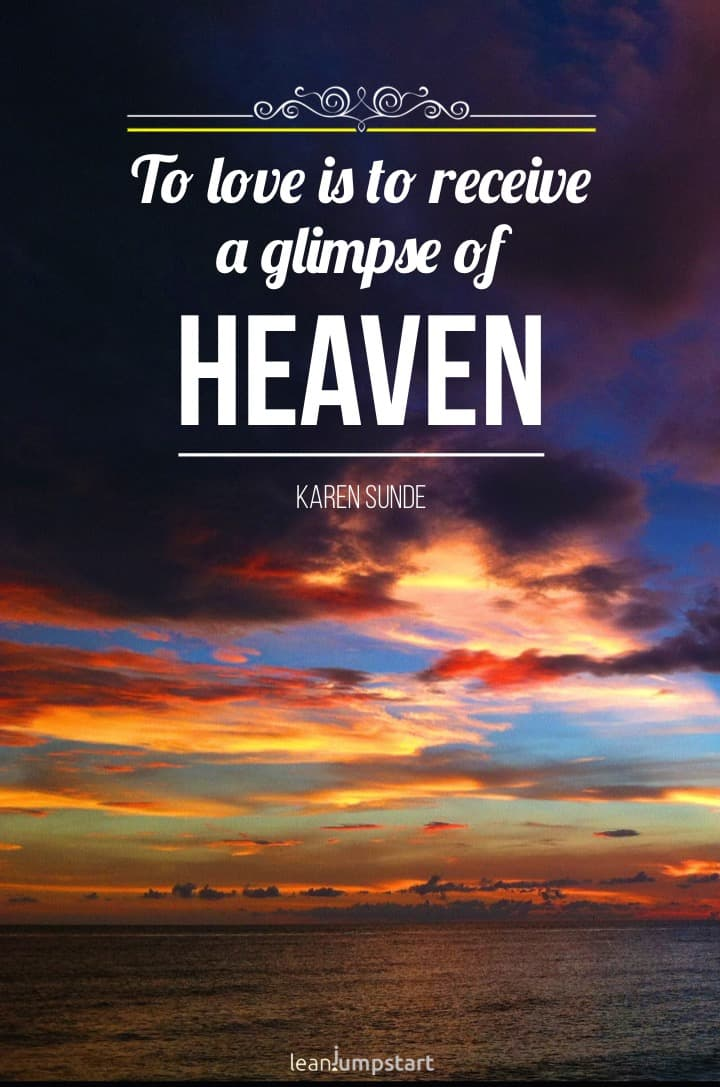 Glimpse of Heaven quote