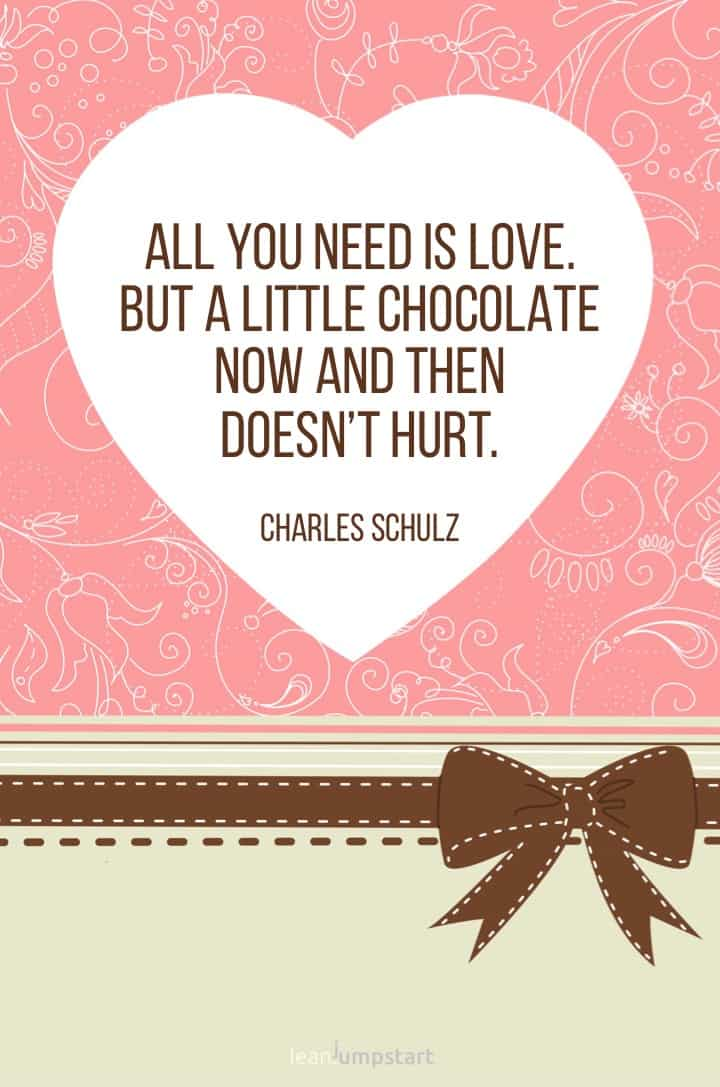 chocolate love quote