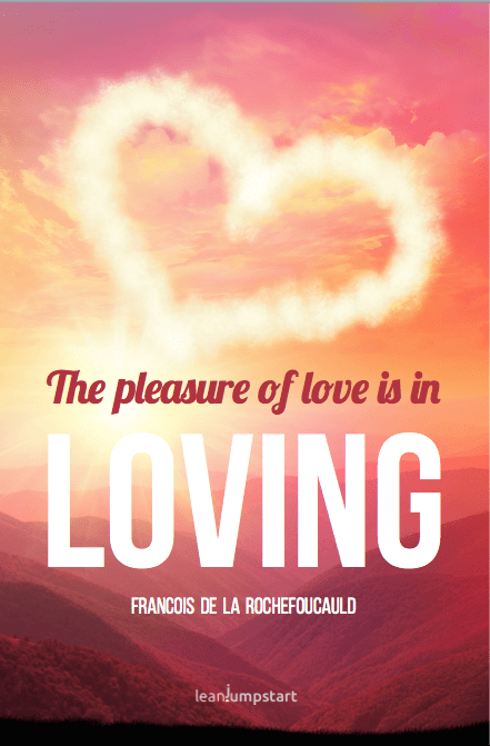 cute love quotes from francois de la Rochefoucault