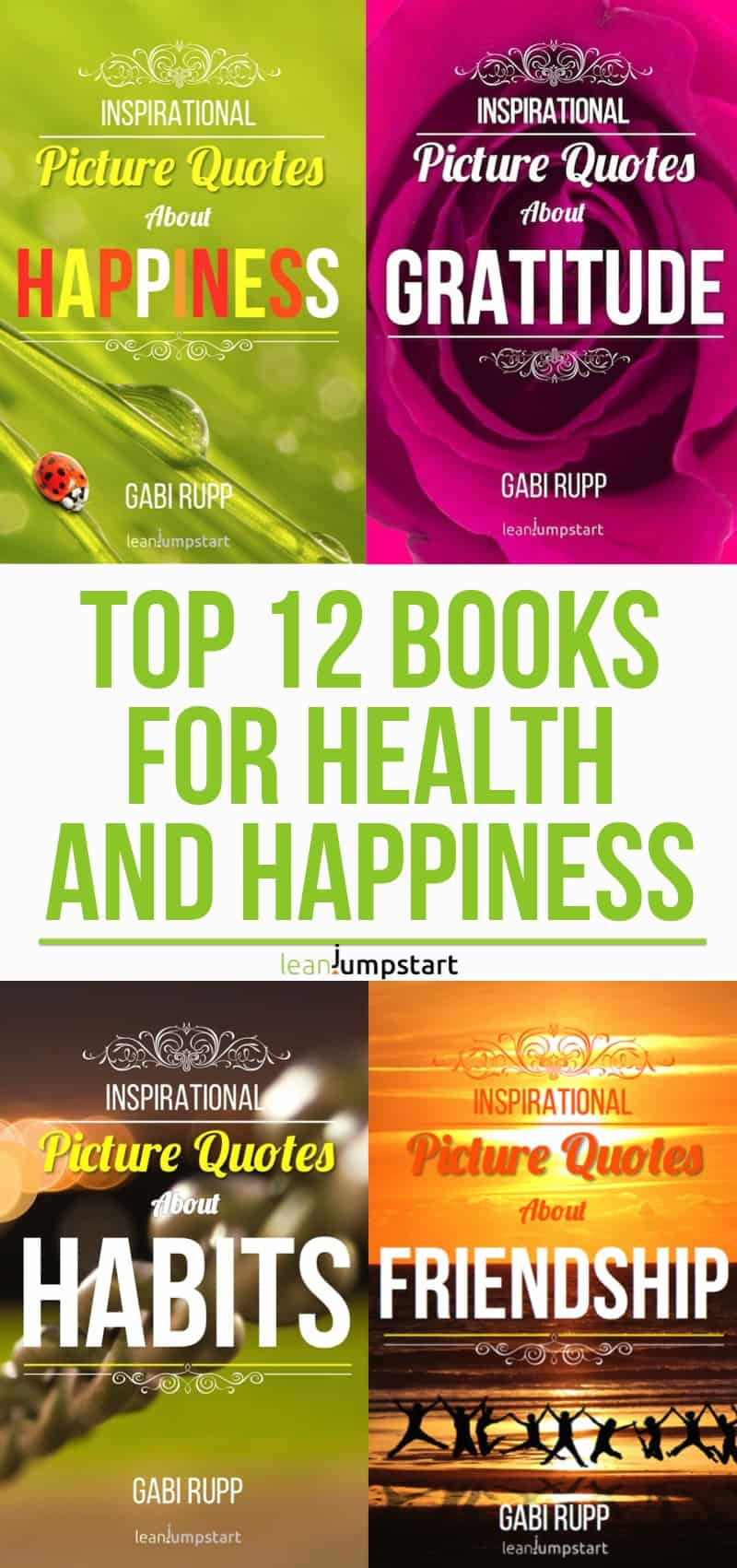 motivational books - top 12 inspirational books for health and happiness. Click through!