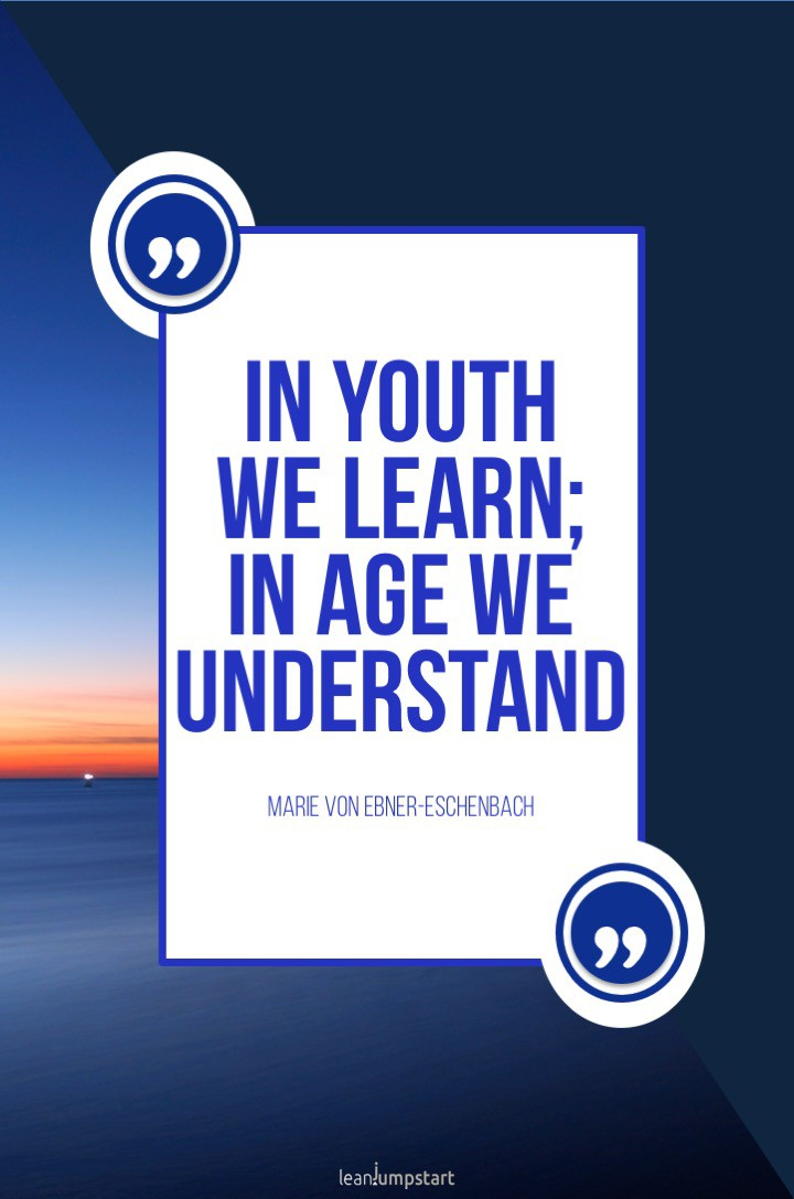youth learning quote
