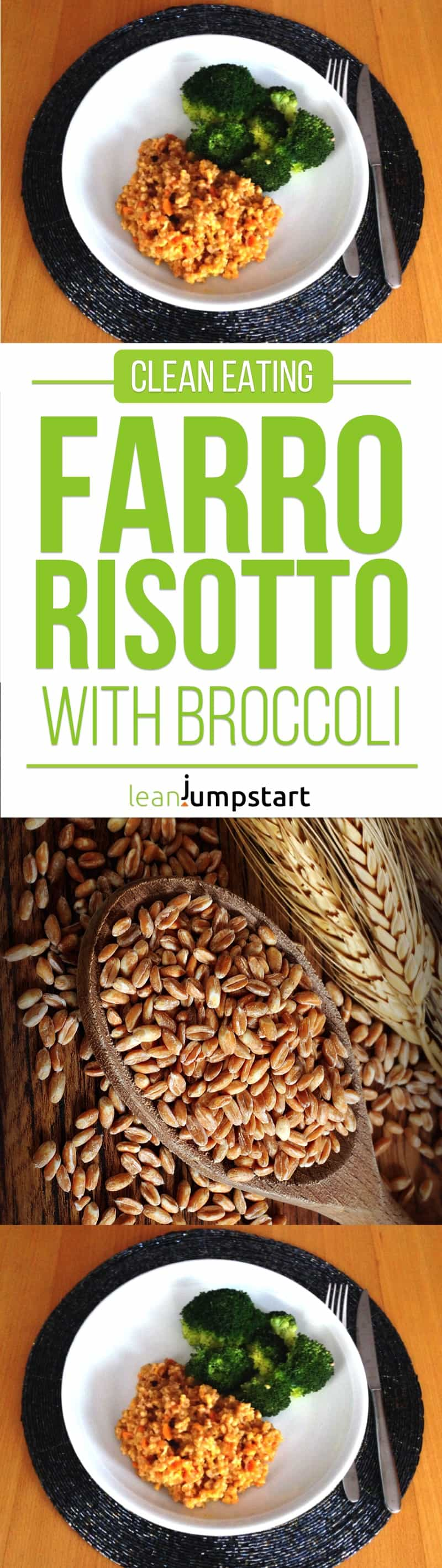 clean eating farro risotto recipe: easy and delicious. Click through!