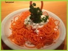 clean eating spiraled carrots with cottage cheese