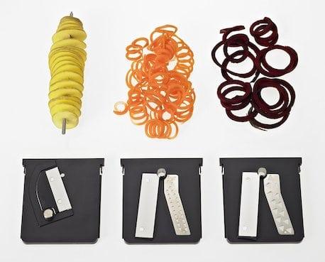 3 spiralizer inserts with blades