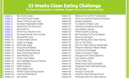 Grab Your Free 52 Weeks Clean Eating Schedule