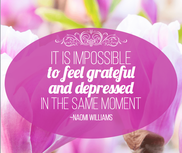 practice gratitude with a motto