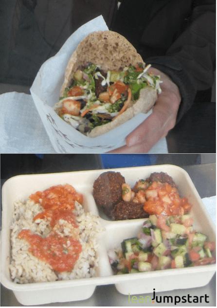 falafel meals at mauz