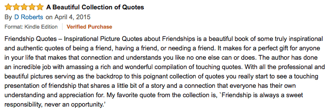 friendship quotes review