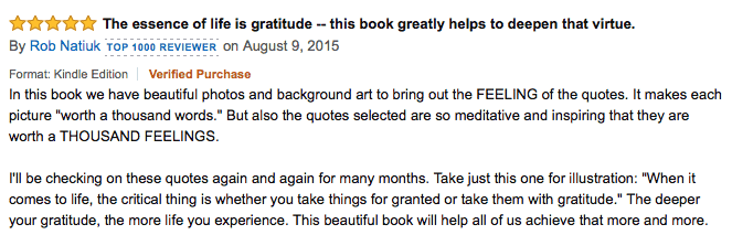 gratitude quotes review