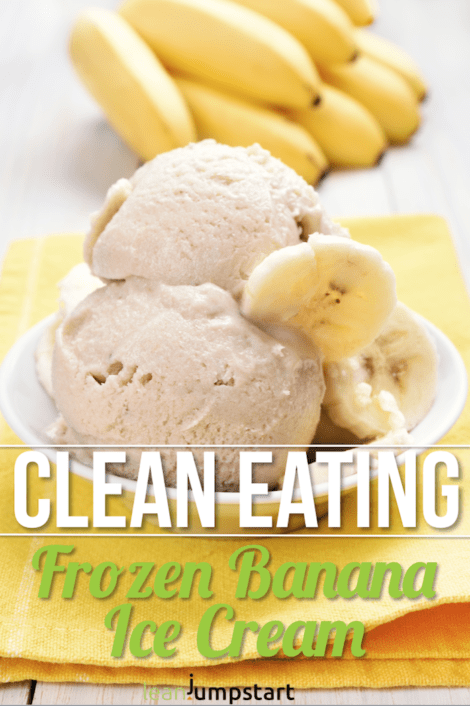 Frozen banana ice cream: a creamy clean eating recipe with just 1 ingredient