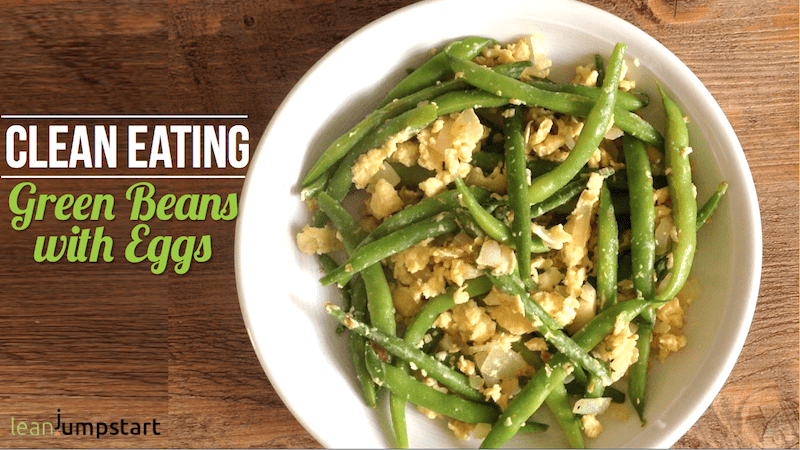 scrambled eggs recipe with green beans