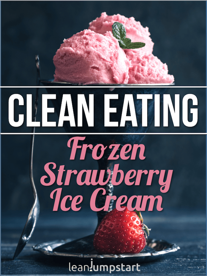 strawberry ice cream with text overlay