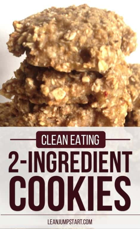 clean eating cookies: 2 ingredient cookie recipe - quick and easy