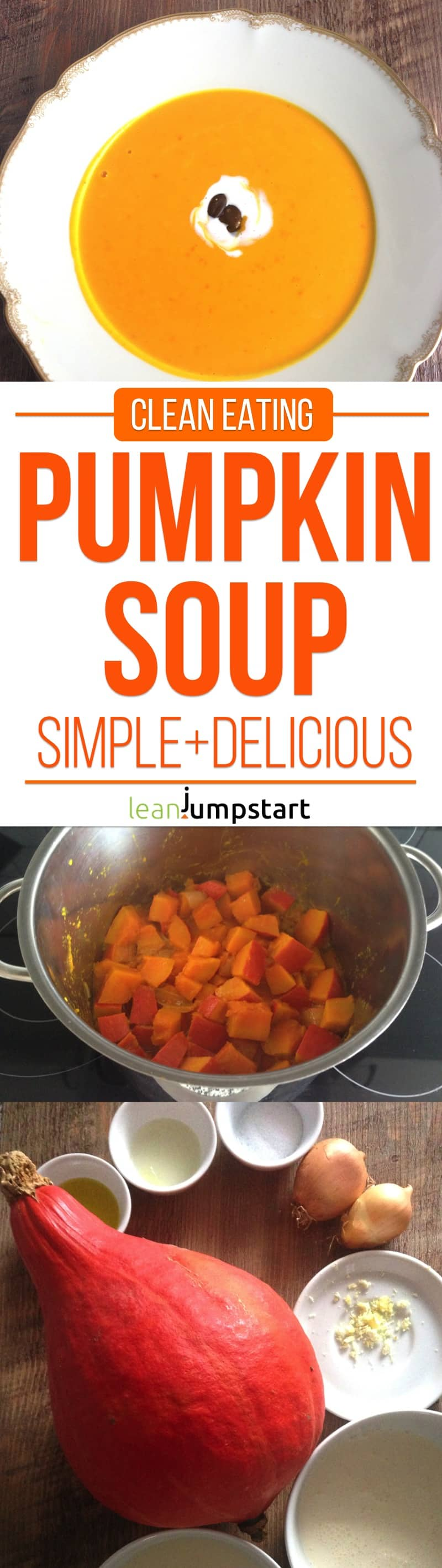 red kuri squash soup recipe: a simple clean eating meal with hokkaido pumpkins. Click through!