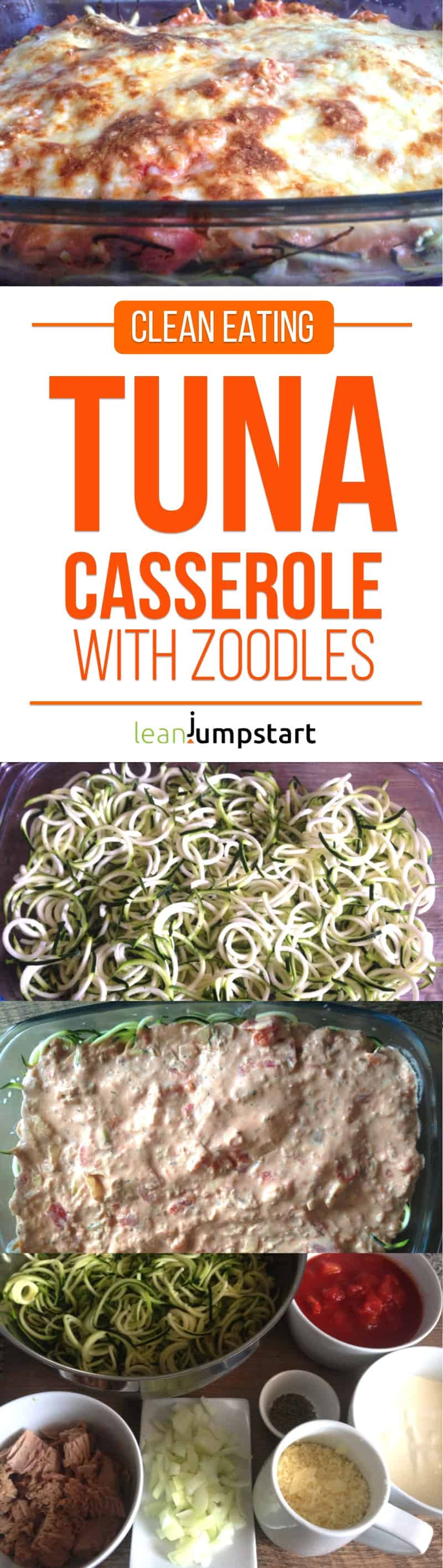 tuna casserole recipe with zoodles: an easy, almost clean bake