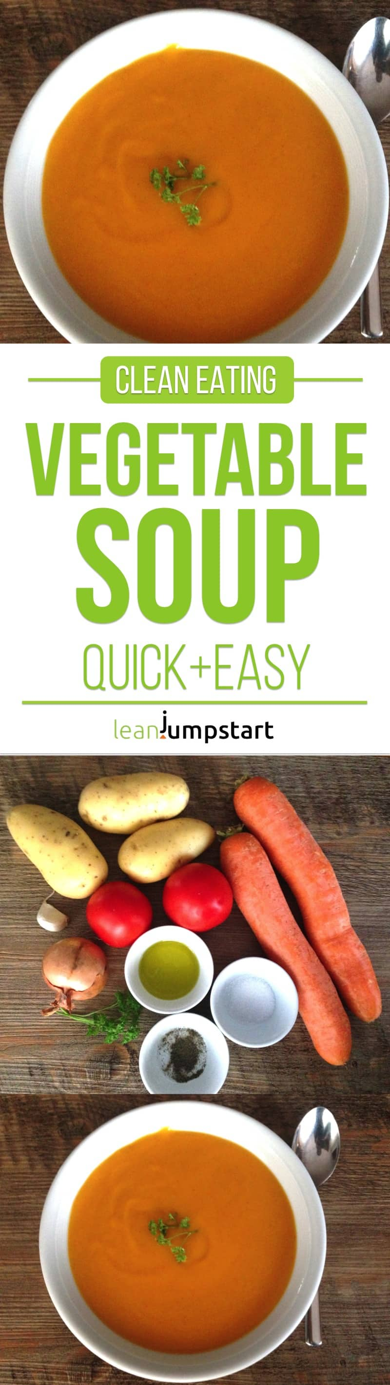 clean eating vegetable soup: quick, creamy, lean and easy. Click through!