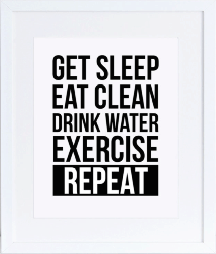 eat clean poster