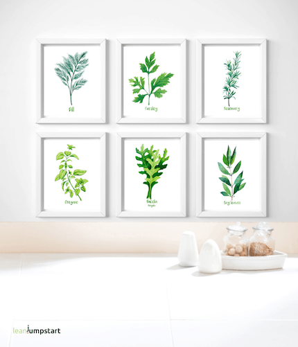 herb posters for kitchen