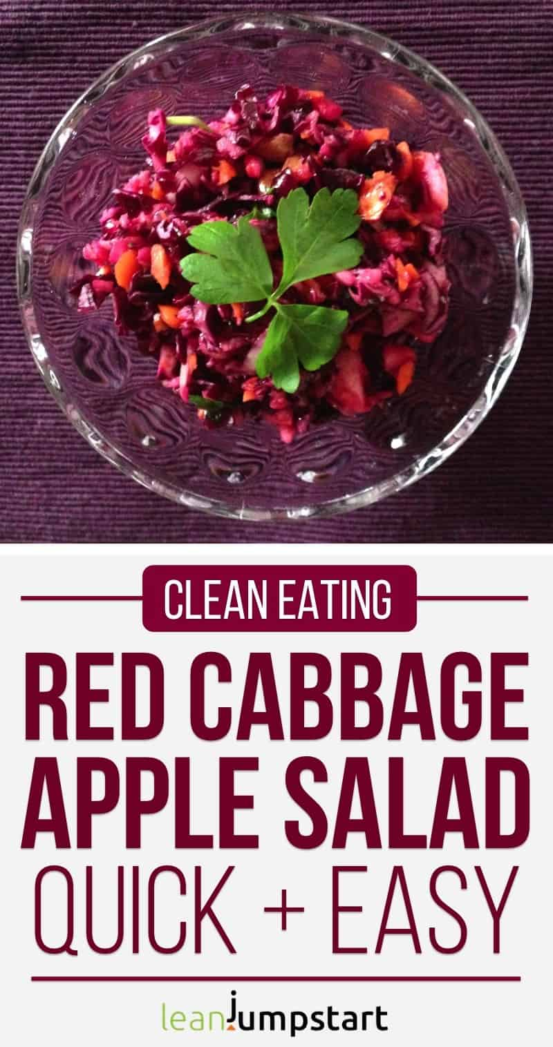 clean eating red cabbage salad