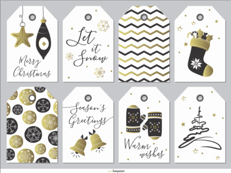 Printable Christmas Gift Tags: 4 easy steps to create holiday labels