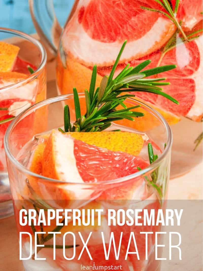 Grapefruit rosemary infused water: a wonderful detox beverage