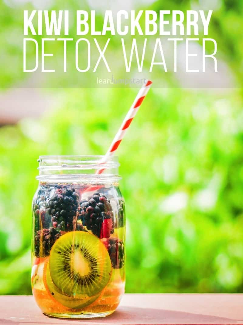 Kiwi blackberry infused water: a refreshing, summer detox drink