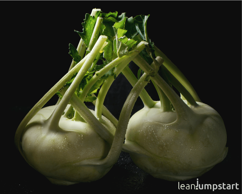 Kohlrabi or cabbage turnip